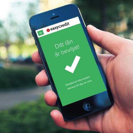 Beviljat smslån i mobilen hos Easycredit