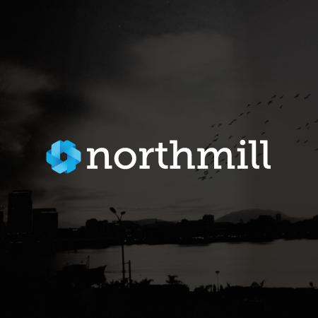 Northmill logga mörk bakgrund