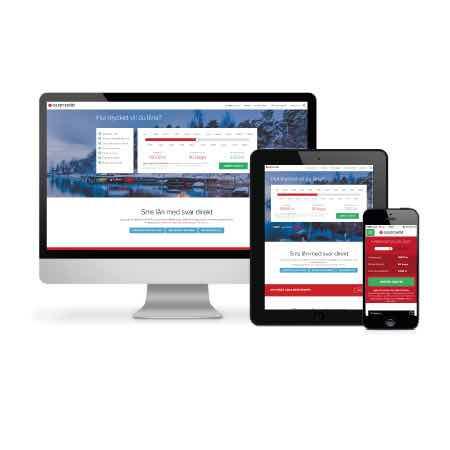 Sms lån via mobil, dator eller läsplatta på Easycredits hemsida