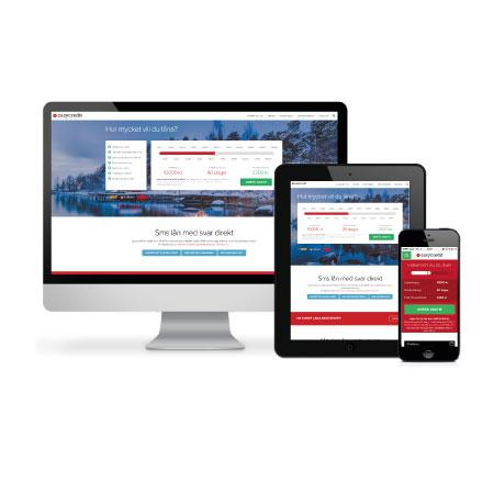 Sms lån via mobil, dator eller läsplatta